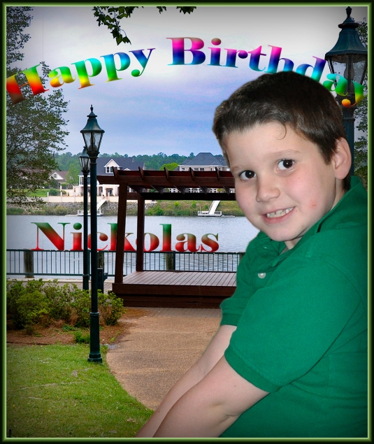 Happy Birthday Nickolas 2017